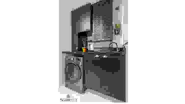 Sgabello Interiores KitchenCabinets & shelves MDF Black
