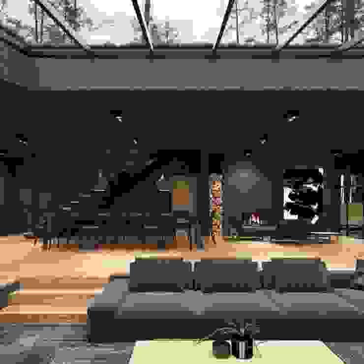 كاسل للإستشارات الهندسية وأعمال الديكور والتشطيبات العامة Living room Wood Black