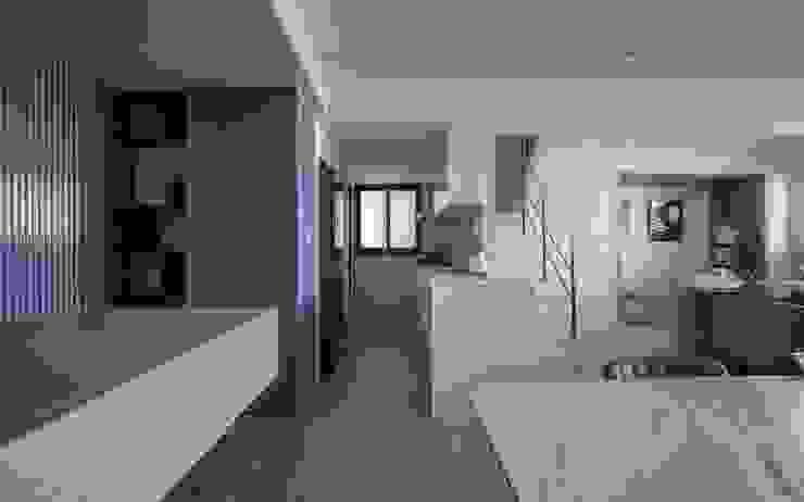 樓中樓 | 親密又獨立 優游於光譜的兩極 有隅空間規劃所 Kitchen units Quartz White