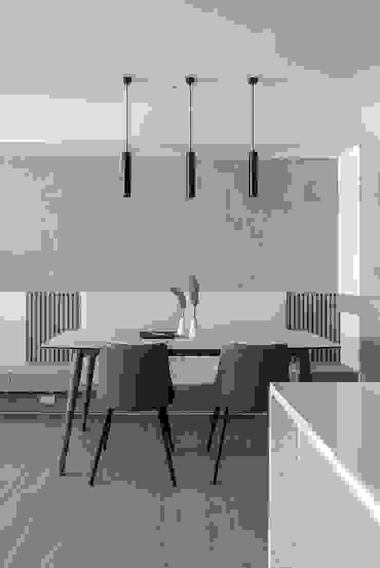 樓中樓 | 餐廳 有隅空間規劃所 Scandinavian style dining room Concrete Grey