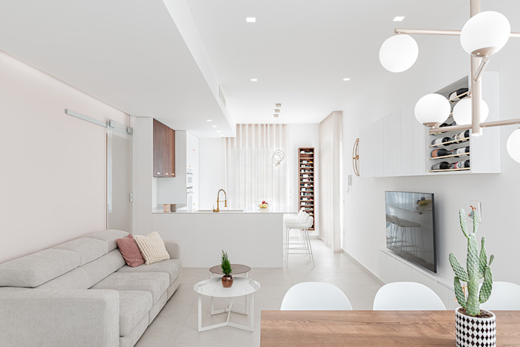 Open space Soggiorno minimalista di manuarino architettura design comunicazione Minimalista Legno Effetto legno