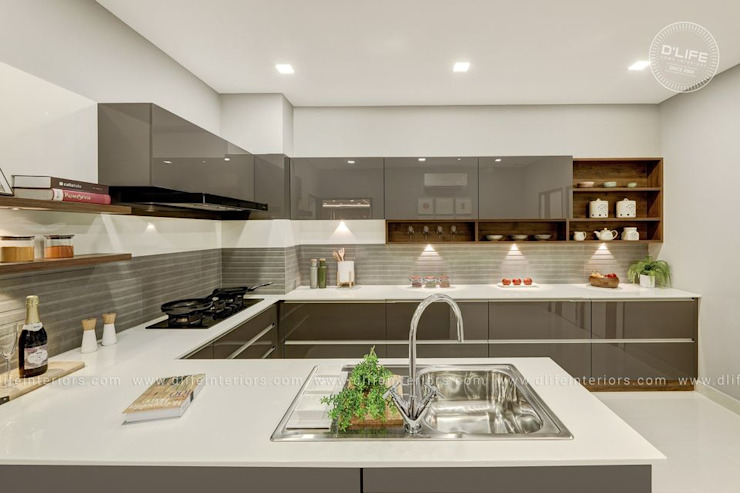 MOST MODERN KITCHEN DESIGN WITH SPACIOUS STORAGE OPTIONS DLIFE Home Interiors KitchenCabinets & shelves