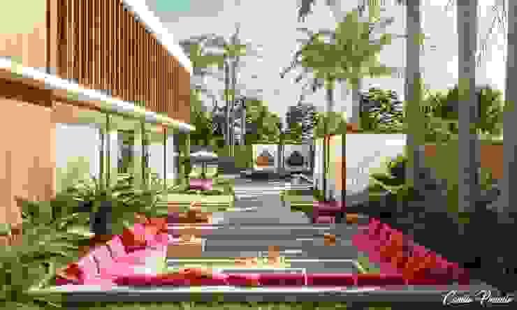 Área de Estar Camila Pimenta | Arquitetura + Interiores Condomínios Madeira Bege