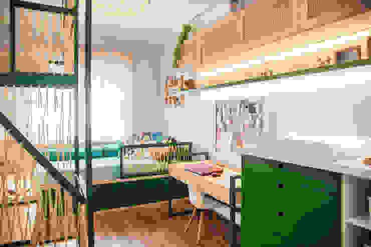 Quarto da Cecilia e do Caio JuBa - Arquitetando Ninhos Quarto infantil moderno
