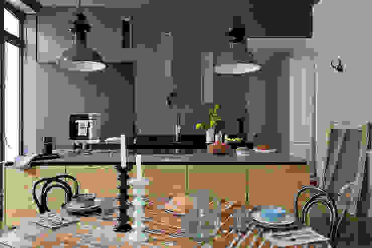 Rénovation d'une maison à Lyon Synesthésies Cuisine classique