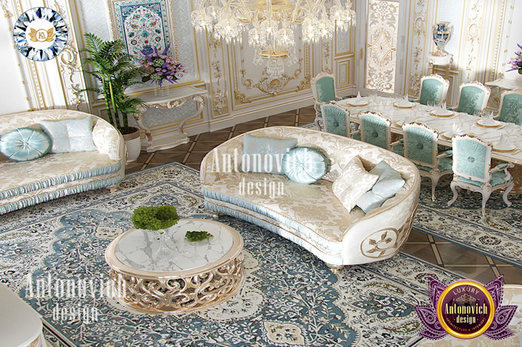 Luxurious Classic Home Interior Design by Katrina Antonovich Luxury Antonovich Design Living room