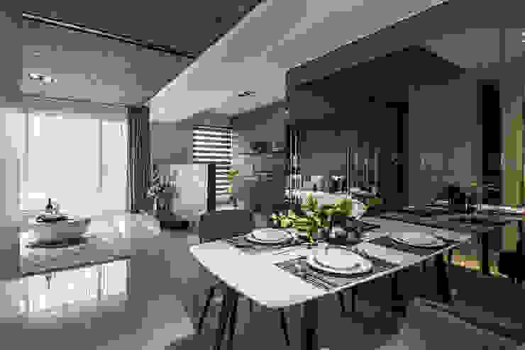 SING萬寶隆空間設計 Ruang Makan Modern