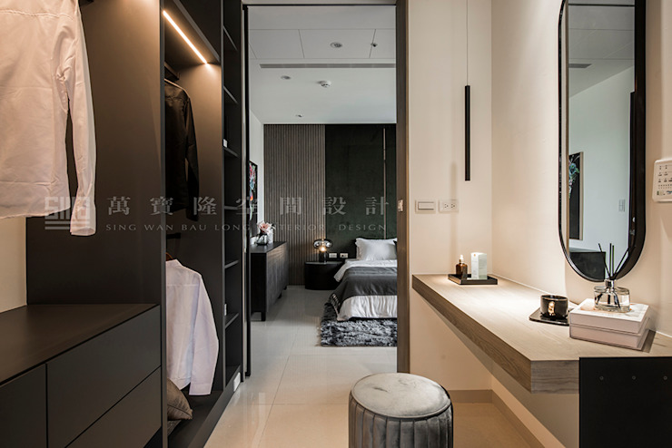 SING萬寶隆空間設計 Ruang Ganti Modern