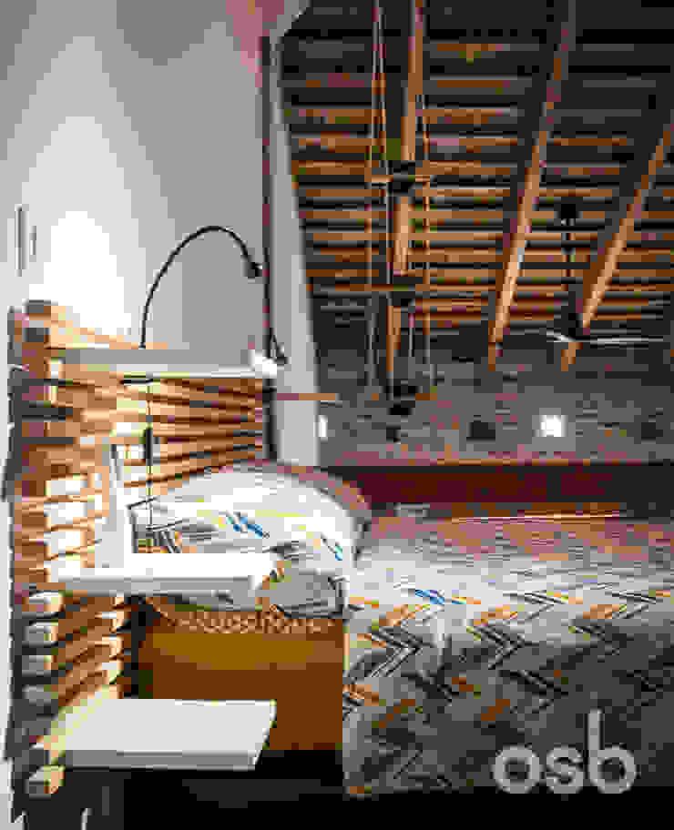 dormitorio principal osb arquitectos Dormitorios de estilo rústico Acabado en madera