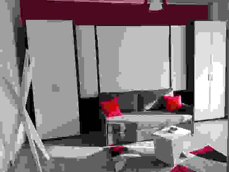Silvia Camporeale Interior Designer Modern study/office Engineered Wood White