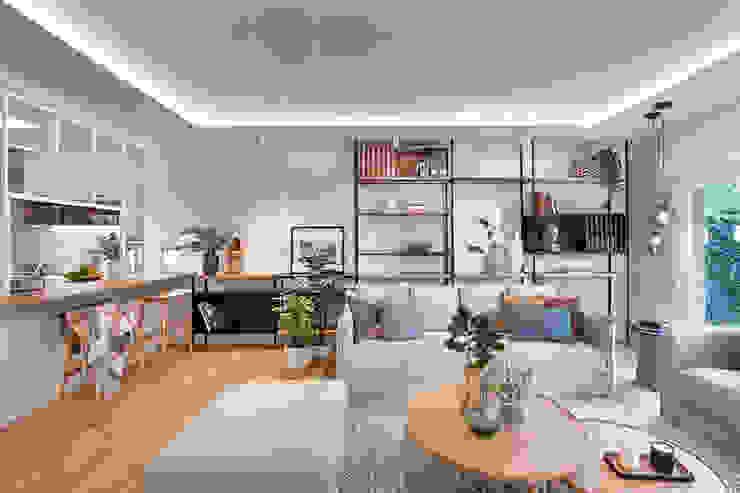 Egue y Seta Phòng khách phong cách Địa Trung Hải