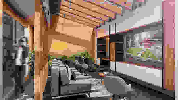 G._ALARQ + TAGA Arquitectos Living room