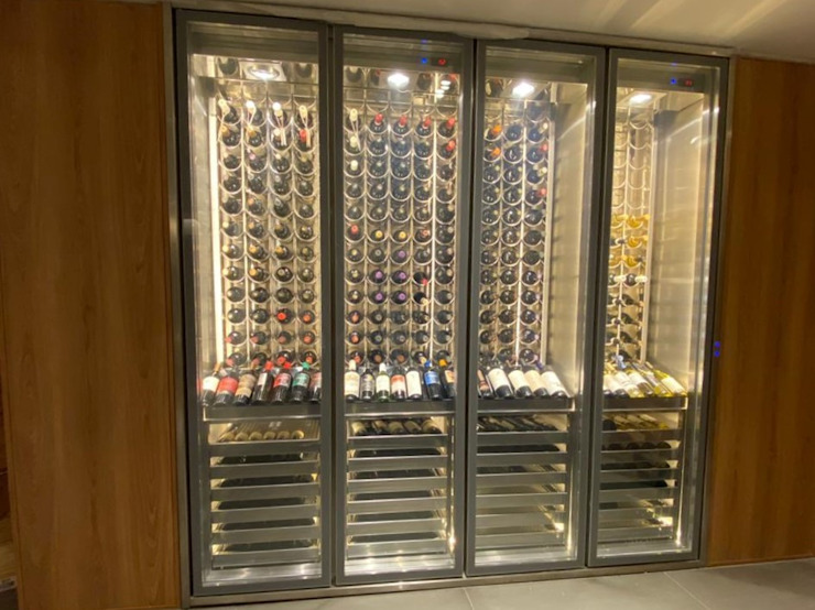 Gibeli Refrigeração ที่เก็บไวน์ เหล็ก