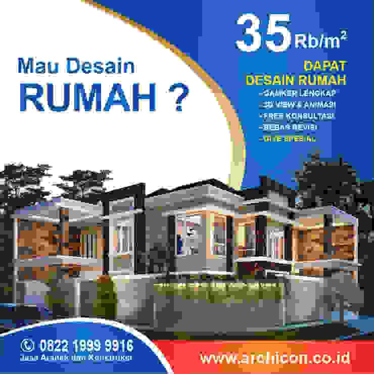 Jasa Arsitek Bandung| Jasa Desain Rumah Bandung | Jasa Desain Interior Bandung | Kota Bandung | Jasa kontraktor Bandung Jasa Arsitek Archicon Koridor & Tangga Minimalis Batu Tulis Metallic/Silver