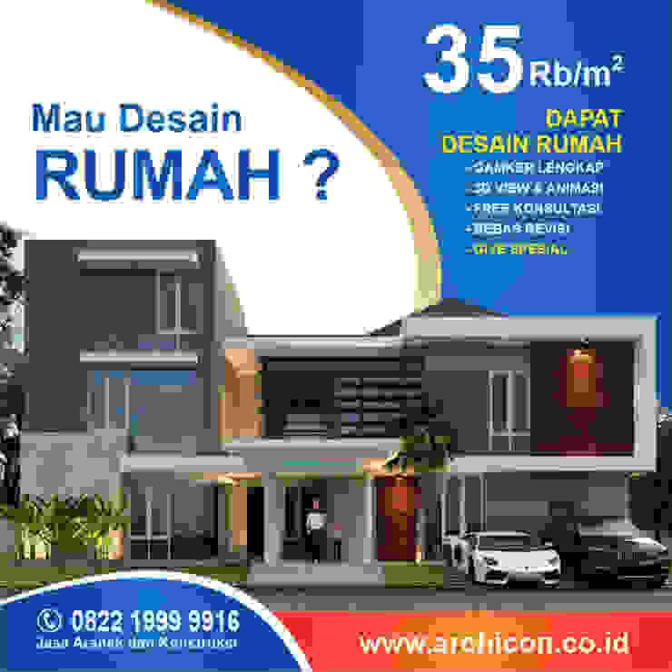 Jasa Arsitek Bandung| Jasa Desain Rumah Bandung | Jasa Desain Interior Bandung | Kota Bandung | Jasa kontraktor Bandung Jasa Arsitek Archicon Kamar tidur kecil Kaca Purple/Violet