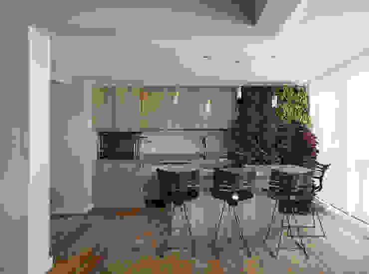 DCC by Next arquitetura Salas de estilo mediterraneo Gris