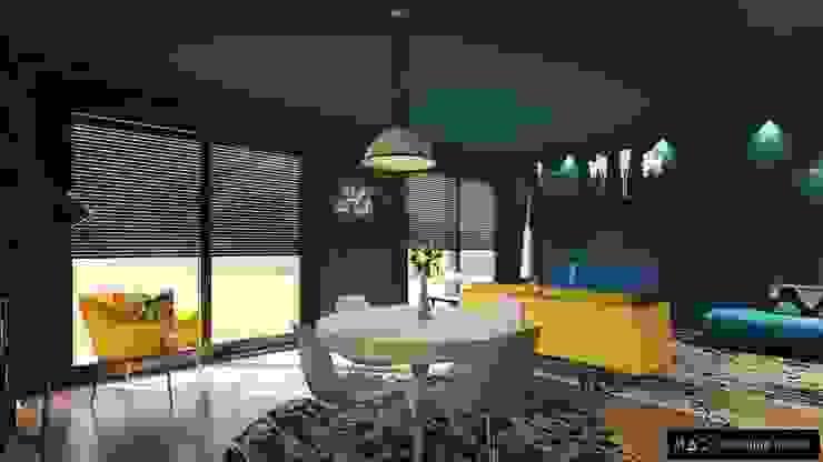 MAD- Marlene Azevedo Decoração Industrial style dining room Yellow