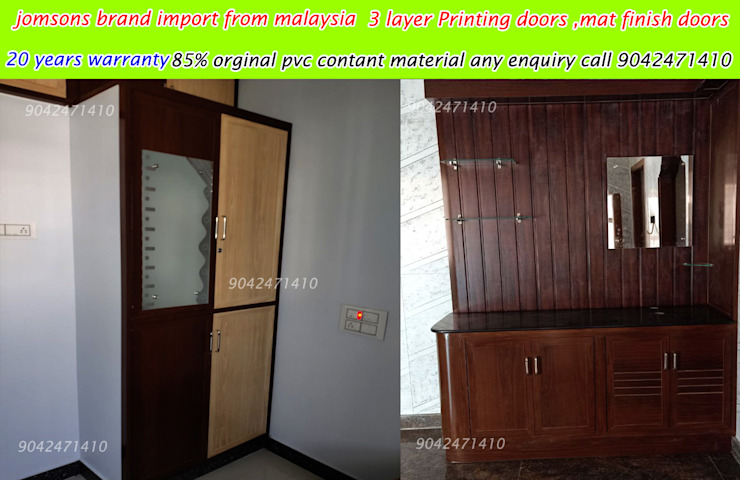 pvc interiors tiruvannamalai 9042471410 balabharathi pvc interior design Living roomFireplaces & accessories Plastic Turquoise