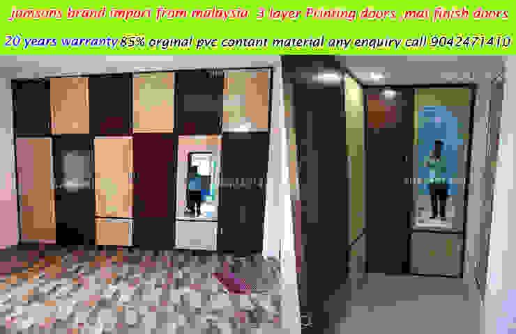 pvc interiors tiruvannamalai 9042471410 balabharathi pvc interior design BedroomWardrobes & closets Plastic Wood effect
