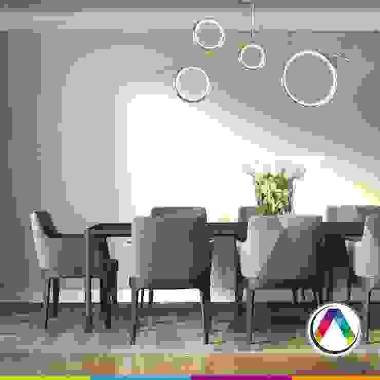 Semiplafones de diseño para el comedor La Casa de la Lámpara Hoteles de estilo moderno