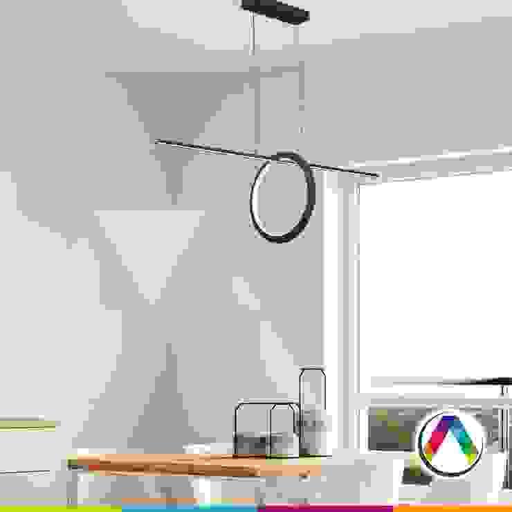 Lámparas de techo para el comedor La Casa de la Lámpara Hoteles de estilo minimalista
