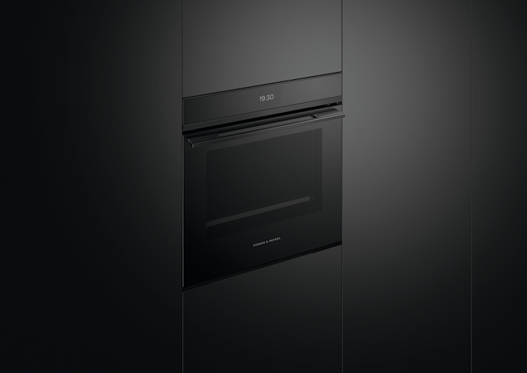 All black handle-less oven from Fisher & Paykel Fisher Paykel Appliances Ltd Built-in kitchens Iron/Steel Black