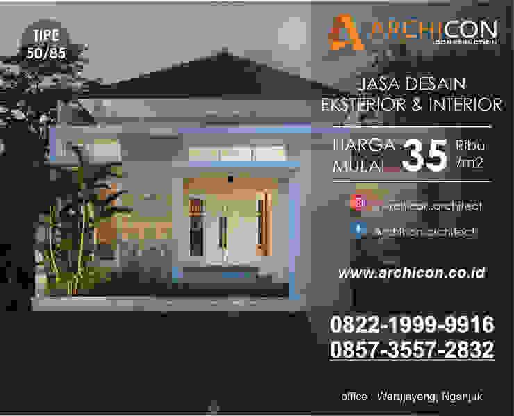 Jasa Arsitek Bandung   Jasa Desain Rumah Bandung   Jasa Desain Interior Bandung   Kota Bandung   Jasa kontraktor Bandung Archicon Architect Garasi ganda Batu Tulis Brown