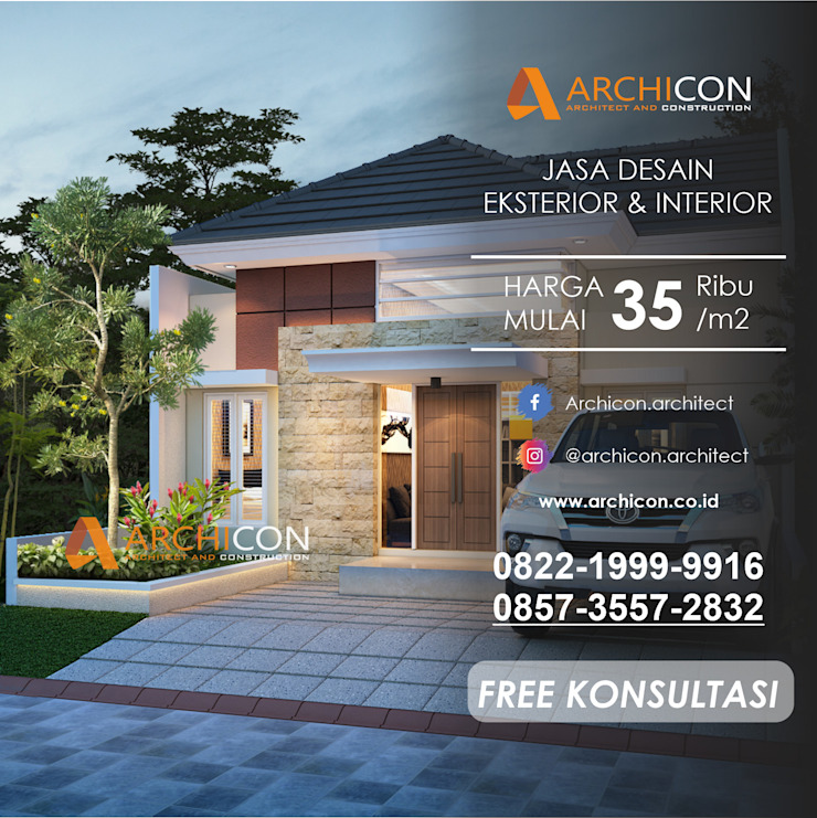 Jasa Arsitek Bandung   Jasa Desain Rumah Bandung   Jasa Desain Interior Bandung   Kota Bandung   Jasa kontraktor Bandung Archicon Architect Kolam air hangat Batu Pasir Brown