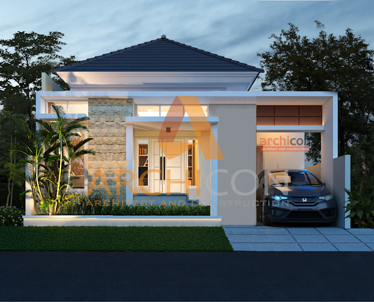 Jasa Arsitek Bandung   Jasa Desain Rumah Bandung   Jasa Desain Interior Bandung   Kota Bandung   Jasa kontraktor Bandung Archicon Architect Kamar Mandi Klasik Batu Pasir Brown