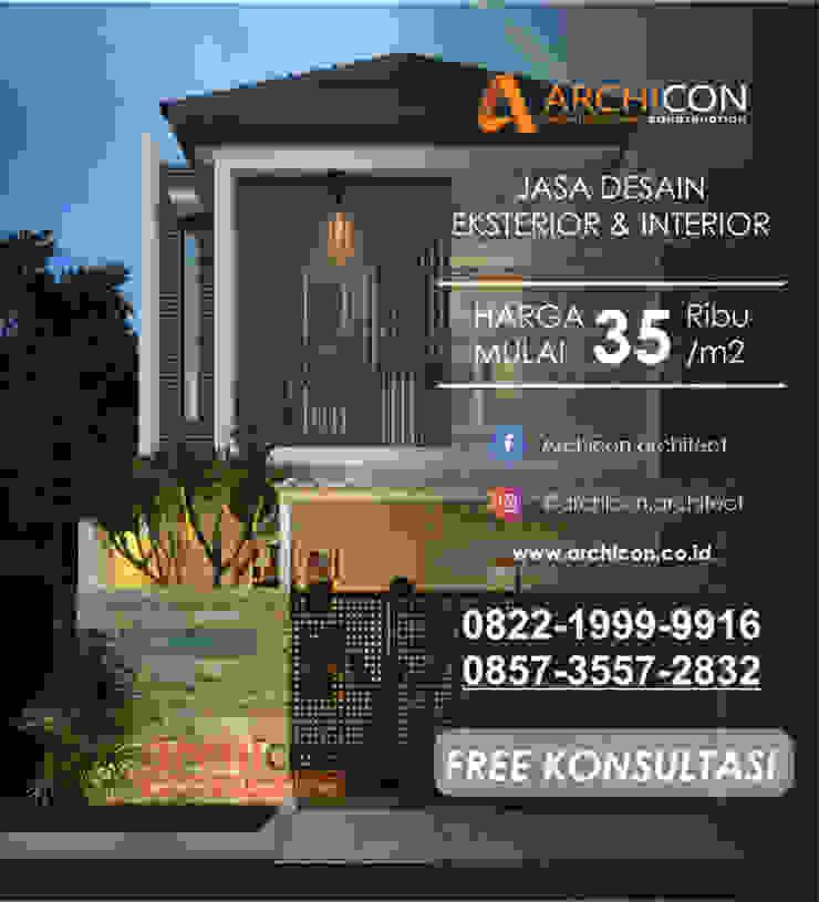 Jasa Arsitek Bandung   Jasa Desain Rumah Bandung   Jasa Desain Interior Bandung   Kota Bandung   Jasa kontraktor Bandung Archicon Architect Dinding & Lantai Gaya Mediteran Karet Amber/Gold