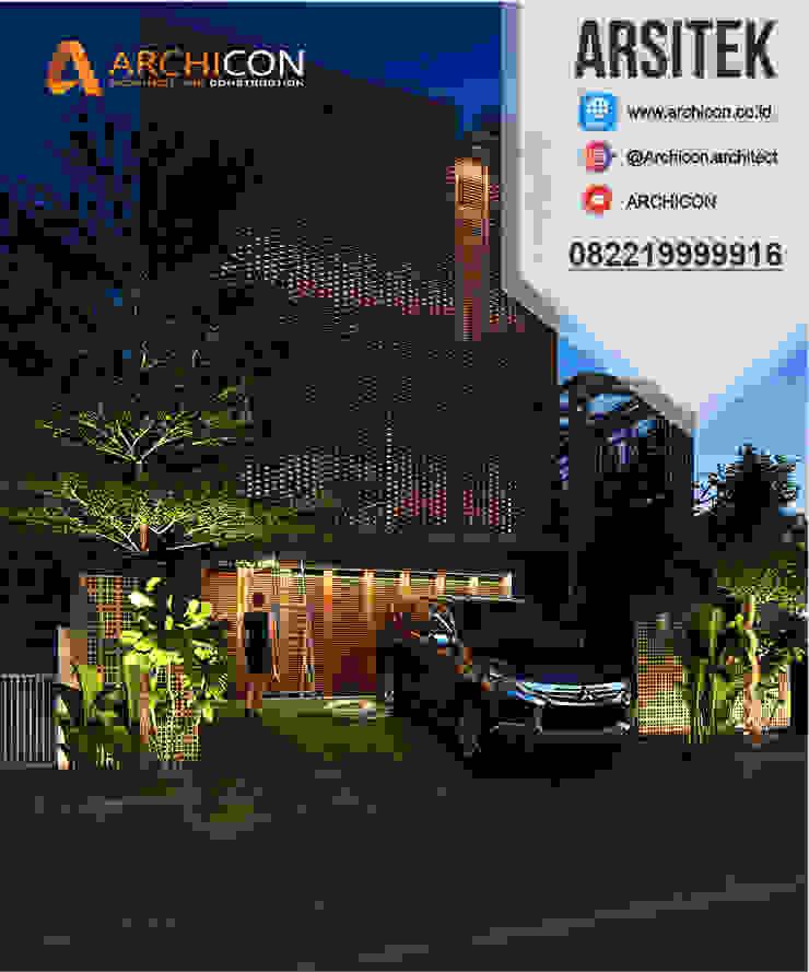 Jasa Arsitek Bandung | Jasa Desain Rumah Bandung | Jasa Desain Interior Bandung | Kota Bandung | Jasa kontraktor Bandung Archicon Architect Jendela ruang bawah tanah Batu Kapur Metallic/Silver