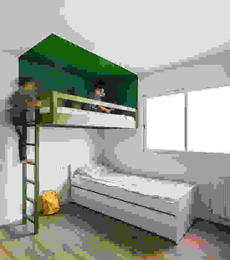 Vivienda en Ciudad Universitaria tambori arquitectes Dormitorios infantiles de estilo moderno