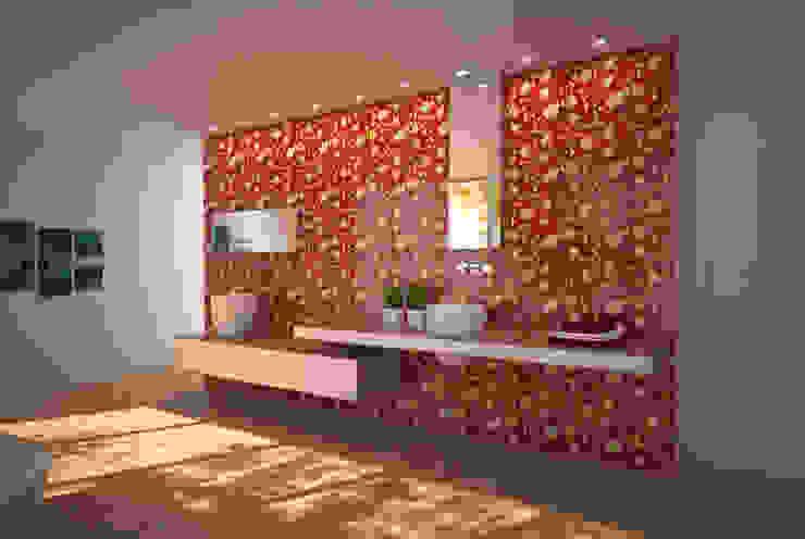 Orchidea Tastardi Tiles Bagno in stile mediterraneo Ceramica Rosso