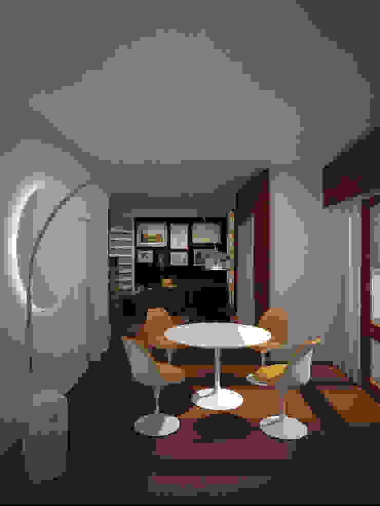 Dual Smart… working ibedi laboratorio di architettura Sala da pranzo moderna Granito Bianco