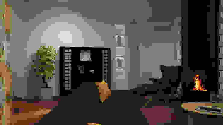 Dual Smart… working ibedi laboratorio di architettura Soggiorno in stile industriale Legno Bianco