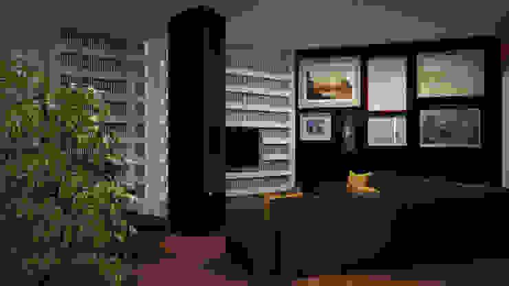Dual Smart… working ibedi laboratorio di architettura Soggiorno minimalista Compensato Beige