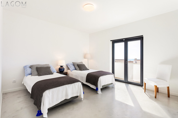 Lagom studio Kamar Tidur Modern Beton Grey