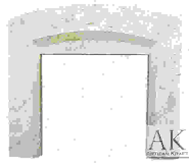 Beveled Arched Precast Fireplace Mantel – AK Goods AK Goods