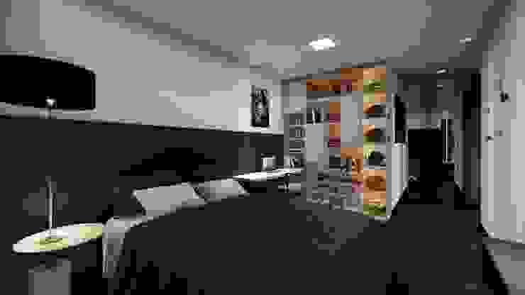 Studio Ideação Kamar Tidur Modern MDF Black