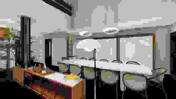 Studio Ideação Ruang Makan Modern
