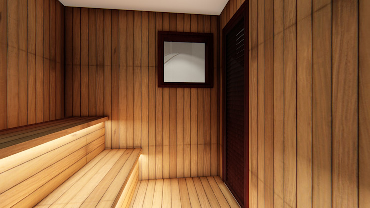 Studio Ideação Spa Gaya Eklektik Kayu Wood effect