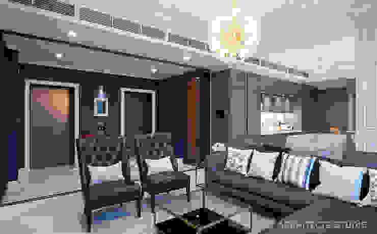 D' Architects Studio Вітальня Синій