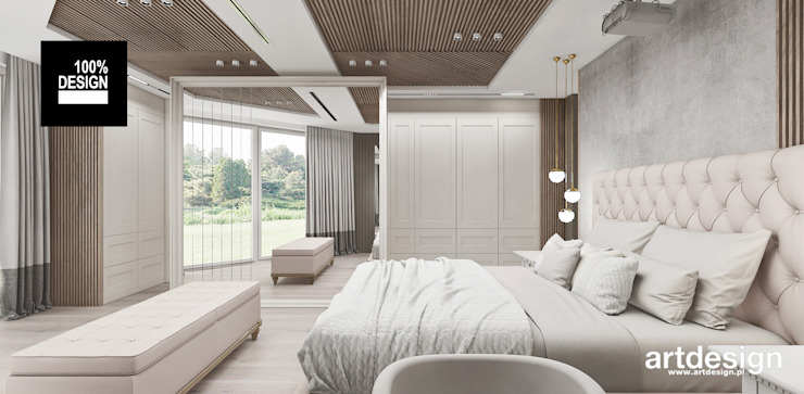 ARTDESIGN architektura wnętrz Dormitorios de estilo escandinavo