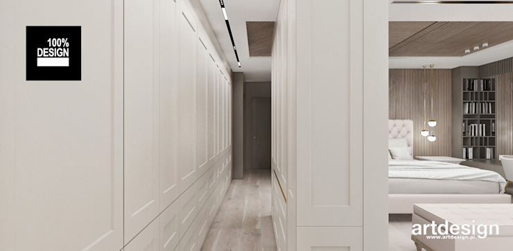 ARTDESIGN architektura wnętrz Vestidores de estilo escandinavo