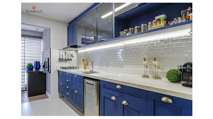 Sgabello Interiores KitchenBench tops MDF Blue
