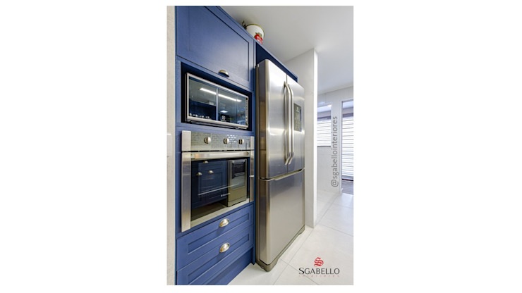 Sgabello Interiores KitchenCabinets & shelves MDF Blue