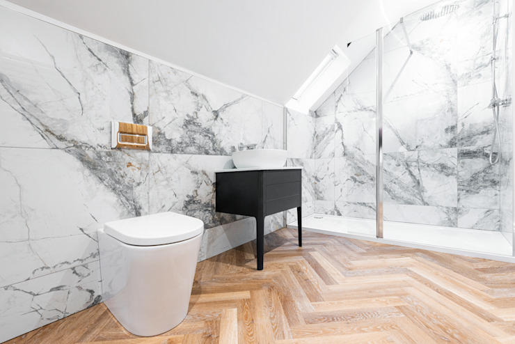 Upstairs bathroom Dan Wray Photography Baños de estilo moderno