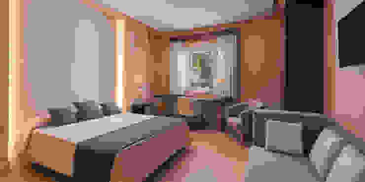 Iluminación de Habitación doble Techluz Iluminación Hoteles de estilo colonial