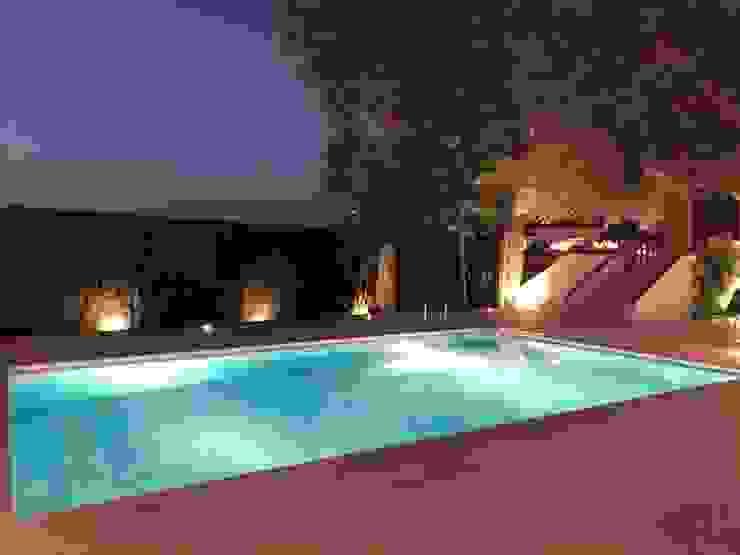 Iluminación zona de piscina Techluz Iluminación Piscinas de jardín