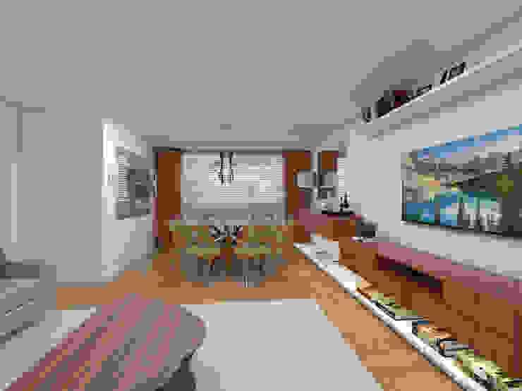 DCC by Next arquitetura Salas de estilo moderno Madera
